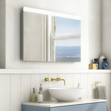 Crosswater Glide II Dimmable Illuminated Mirror with Demister & Colour Change LED's - 500, 600 & 1000mm