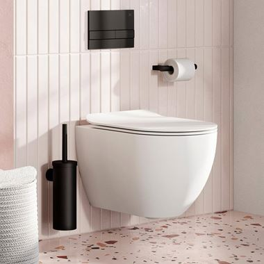 Crosswater Glide II Wall Hung Rimless Gloss White Toilet & Soft Close Seat - 510mm Projection