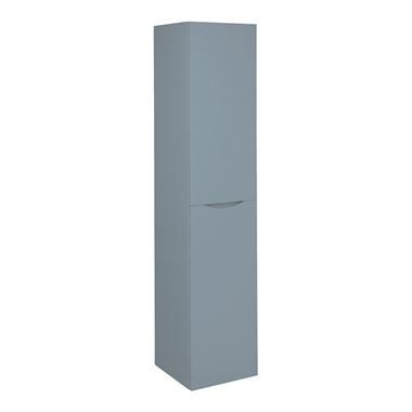 Crosswater Glide II Wall Hung Tall Tower Storage Unit - Blue Smoke Matt
