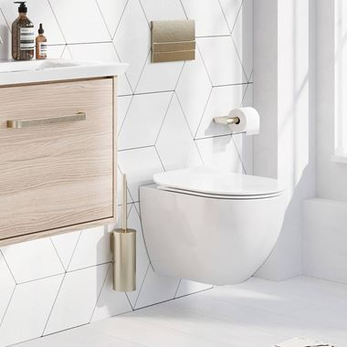 Crosswater Glide II Wall Hung Rimless Gloss White Toilet & Soft Close Seat - 460mm Projection