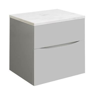 Crosswater Glide II 50 Wall Mounted Unit & Marble Worktop - Storm Grey