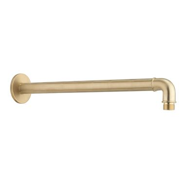 Crosswater MPRO Industrial 330mm Shower Arm - Unlaqcuered Brushed Brass