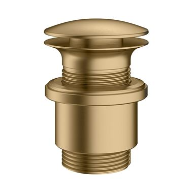 Crosswater MPRO Industrial Universal Basin Click Clack Waste - Unlacquered Brushed Brass
