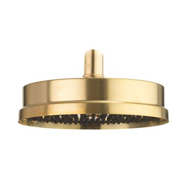 Crosswater MPRO Industrial 8 Inch Easy Clean Shower Head - Unlacquered Brushed Brass