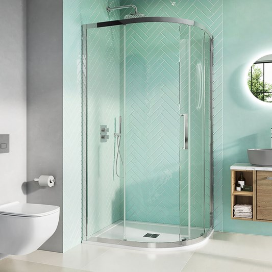 Crosswater Infinity 8mm Easy Clean 2m Tall Quadrant & Offset Quadrant Shower Enclosure