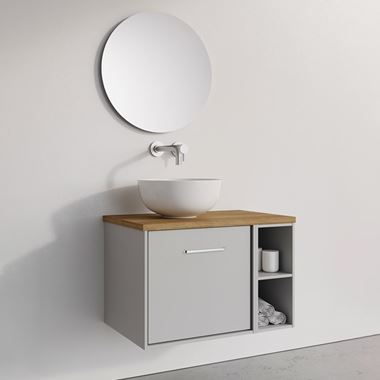Crosswater Infinity Single Wall Mounted Drawer Unit & Base Unit with Worktop - 700mm