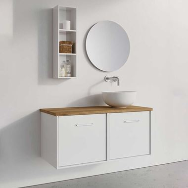 Crosswater Infinity Double Wall Mounted Drawer Unit with Worktop - 1000mm