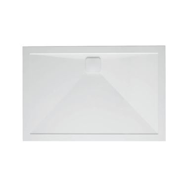 Crosswater Kai Anti-Slip Rectangular 25mm White Stone Resin Shower Tray
