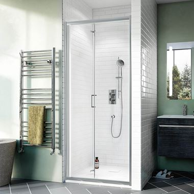 Crosswater Kai 6mm Bi-Fold Shower Door & Optional Side Panel