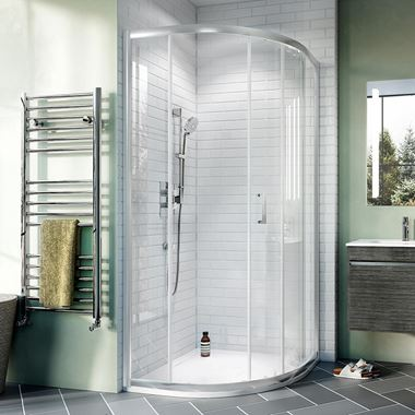 Crosswater Kai 6mm Single Door Offset Quadrant Shower Enclosure