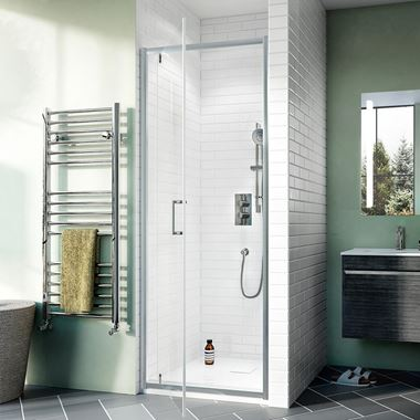 Crosswater Kai 6mm Pivot Shower Door & Optional Side Panel