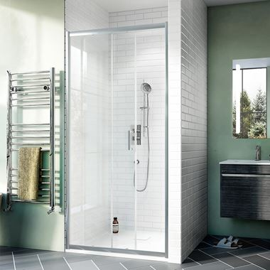 Crosswater Kai 6mm Single Sliding Shower Door & Optional Side Panel