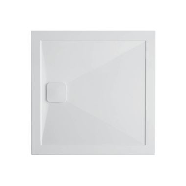 Crosswater Kai Anti-Slip Square 25mm White Stone Resin Shower Tray