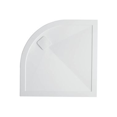 Crosswater Kai Anti-Slip Quadrant 25mm White Stone Resin Shower Tray - 900 x 900mm