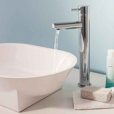 Crosswater Kai Lever Tall Basin Mixer Tap with Fixed Spout
