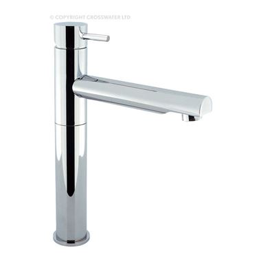 Crosswater Kai Lever Tall Basin Mixer Tap with Swivel Spout