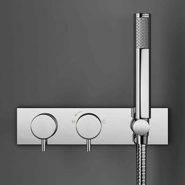 Crosswater Kai Lever Concealed Thermostatic Shower Valve with Shower Handset