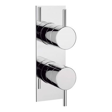 Crosswater Kai Lever Concealed Thermostatic Shower Valve - Slim Backplate