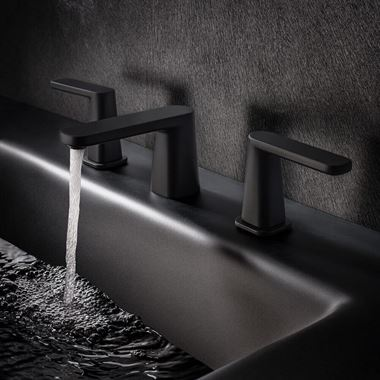 Crosswater Marvel 3 Hole Basin Mixer Tap - Matt Black