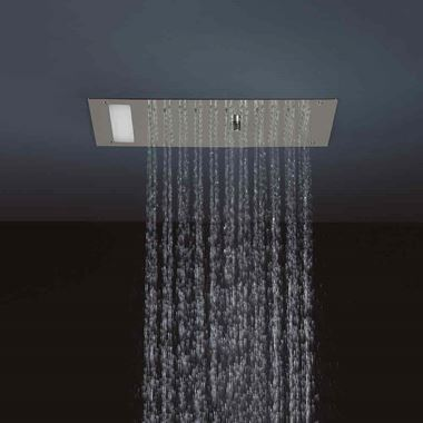 Crosswater Mini Revive Rain and Mist Shower Head with Colour Changing Lights
