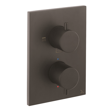 Crosswater MPRO Thermostatic 3 Outlet Shower Valve - Crossbox Technology - Matt Black