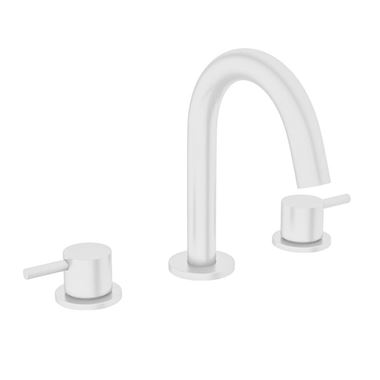 Crosswater MPRO 3 Hole Basin Mixer Tap - Matt White