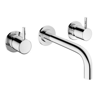 Crosswater MPRO 3 Hole Wall Mounted Basin Mixer Tap