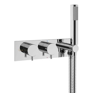 Crosswater MPRO Concealed Thermostatic 2 Outlet Shower Valve with Shower Kit