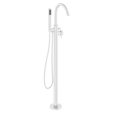 Crosswater MPRO Floorstanding Bath and Shower Mixer Tap - Matt White