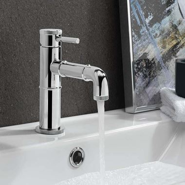 Crosswater MPRO Industrial Basin Mixer Tap - Chrome