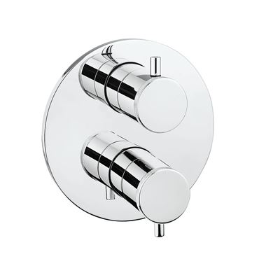 Crosswater MPRO Industrial Thermostatic 1 Outlet Shower Valve - Crossbox Technology - Chrome