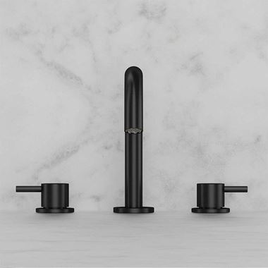 Crosswater MPRO 3 Hole Basin Mixer Tap - Matt Black