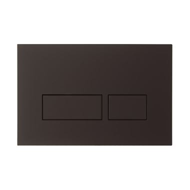 Crosswater MPRO Matt Black Dual Flush Plate