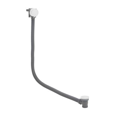 Crosswater MPRO Overflow Bath Filler with Click Clack Waste - Matt White