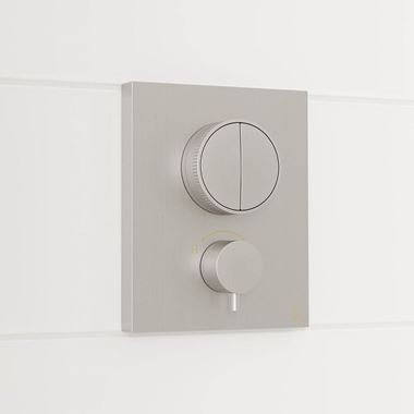 Crosswater MPRO Push 2 Outlet Concealed Valve - Crossbox Technology - Brushed Stainless Steel Effect