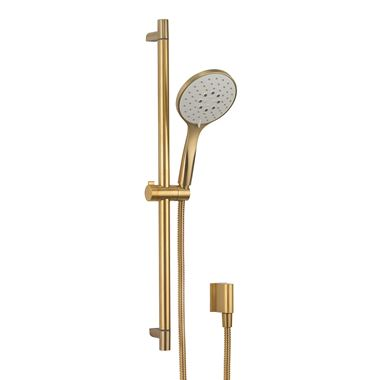 Crosswater MPRO Sliding Rail Shower Kit with Multi-Function Shower Handset - Brushed Brass