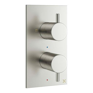 Crosswater MPRO Concealed Thermostatic 2 Outlet Shower Valve - Brushed Stainless Steel