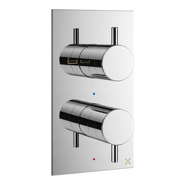 Crosswater MPRO Concealed Thermostatic 2 Outlet Shower Valve - Chrome