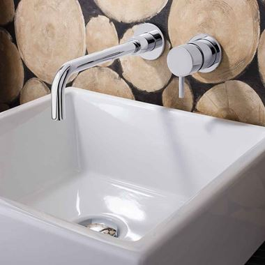 Crosswater MPRO Wall Mounted Basin Mixer Tap - Chrome