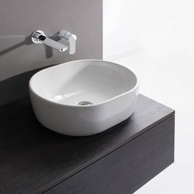 Crosswater Pearl Ceramic Countertop Basin