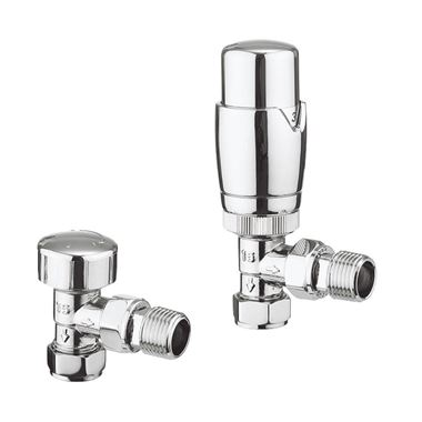 Crosswater Pier 15mm Angled Thermostatic Valve