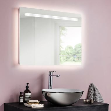 Crosswater Radiance LED Illuminated Mirror - 800 x 600mm