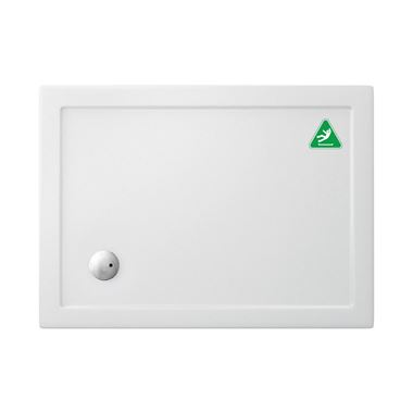 Crosswater 35mm Rectangular Anti-Slip Acrylic Shower Tray with Corner Waste Position