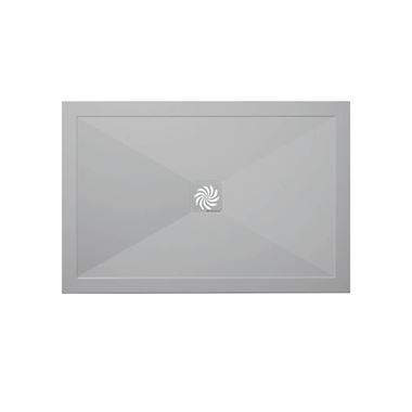 Crosswater Rectangular 25mm Storm Grey Stone Resin Shower Tray