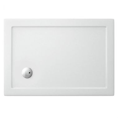 Crosswater 35mm Rectangular Anti-Slip Acrylic Shower Tray with Corner Waste - 1000 x 800mm