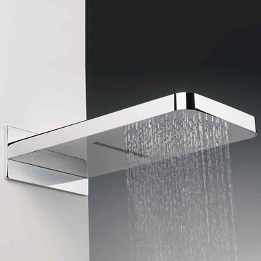 Crosswater Revive Fixed Shower Head with Waterfall Feature