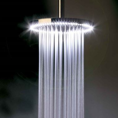 Crosswater Rio Fixed Shower Head and Arm with White LED Lighting