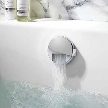 Crosswater Slimline Overflow Bath Filler with Click Clack Waste