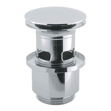 Crosswater Slotted Click Clack Basin Waste - Chrome