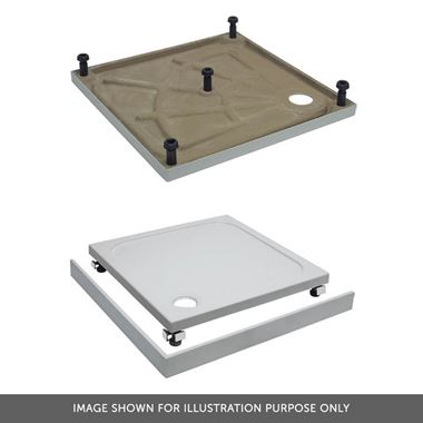 Crosswater 45mm Quadrant Shower Tray Leg & Panel Riser Kit